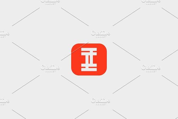 letter I square logo