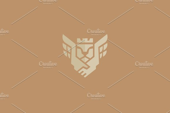 Handshake Lion Crown Luxury Logo
