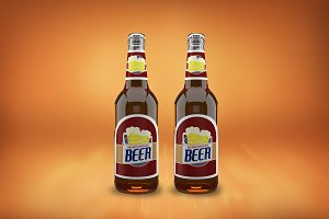 Beer Bottle Label Mock-up#27