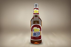 Beer Bottle Label Mock-up#30