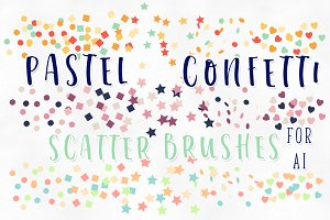 Pastel Confetti Scatter Brushes