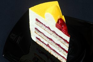 Yellow Velvet Mousse Cake