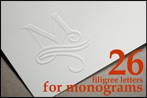 26 Capital letters for monograms
