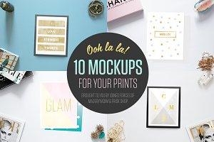 Ooh la la! 10 Mockups for your print