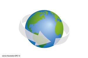 Arrow rotation around the earth