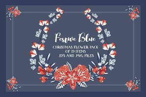 Festive Blue - Vector pack