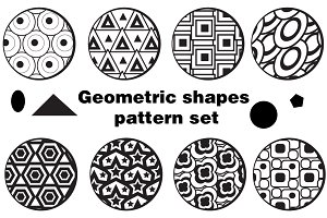 Geometric shapes pattern set