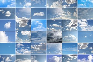 Blue sky collage