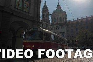 Tram in Old Town of Prague