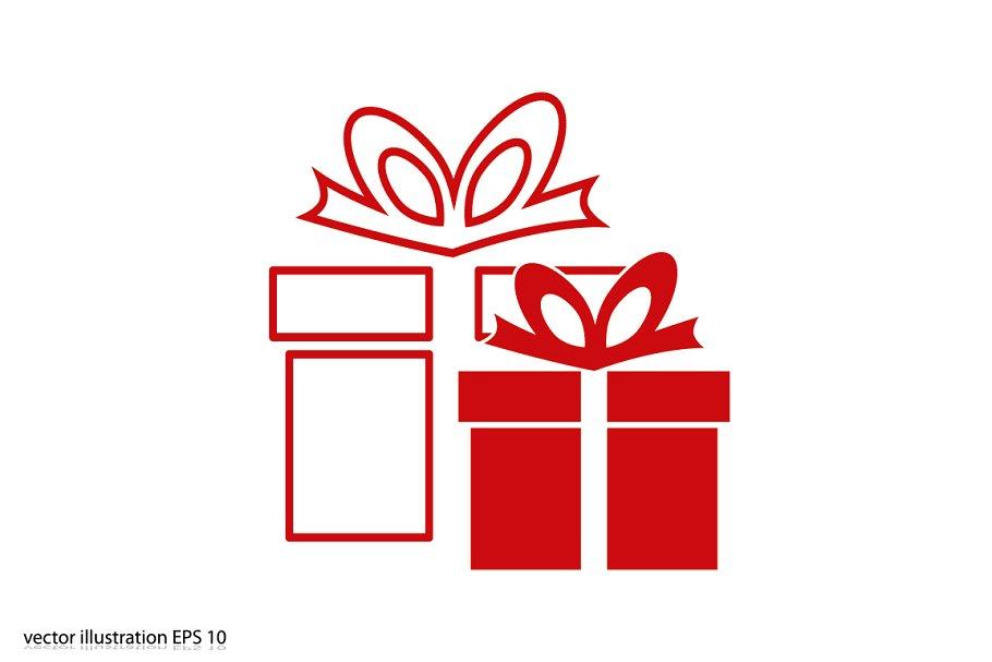 gift box icon | Custom-Designed Icons ~ Creative Market