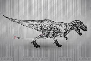 T-rex from triangles and lines