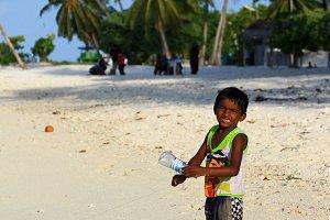 Little boy, Maldives (vertical)