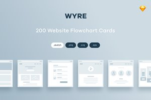 200 Flowchart Cards for Sketch
