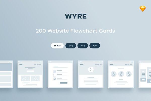 200 Flowchart Cards for Sketch
