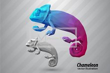 Chameleon from triangles. Color