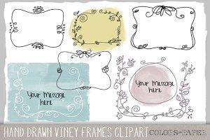Viney Frames Doodle Clipart/Brushes