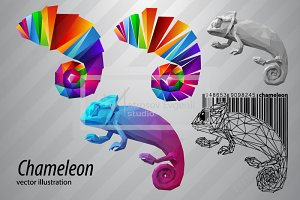 Chameleon from triangles. Set