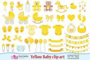 Yellow Baby clipart