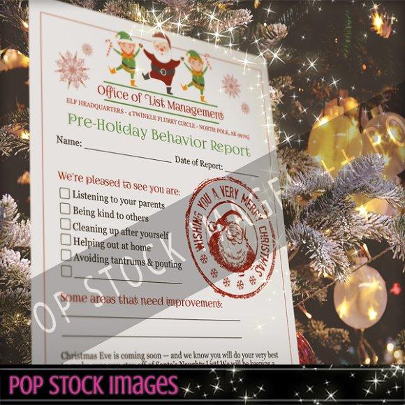 Printable Elf Report for Santa PDF