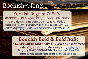 Bookish, a comfortable slab serif