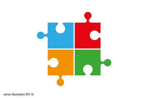 Puzzle Icon Vector Icons Creative Market