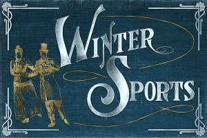 Vintage Winter Sports Illustrations
