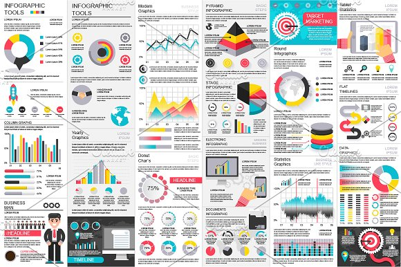 business infographic elements presentation templates creative market