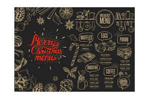 Christmas restaurant brochure