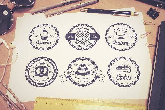 Vintage bakery emblems. Part 1