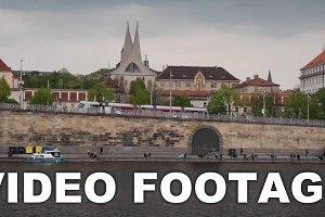 Timelapse of moving on Vltava