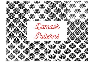Damask seamless decorative patterns