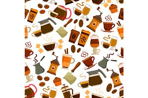 Coffee drinks pattern