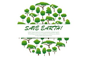 Save Earth. Environmental banner