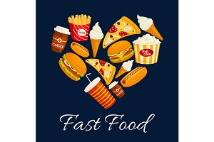 Fast food heart shape