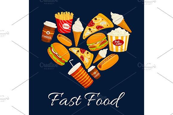 Fast Food Heart Shape