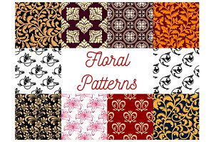 Floral stylized ornate patterns