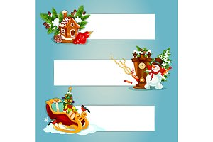 Christmas banners set