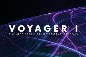 Voyager I - Fractal Background Art