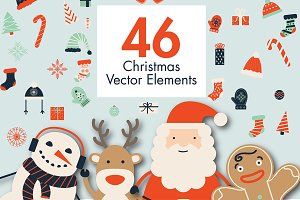 46 Christmas Elements & 3 Patterns