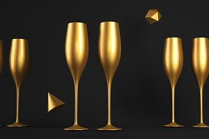 Champagne Golden Glass