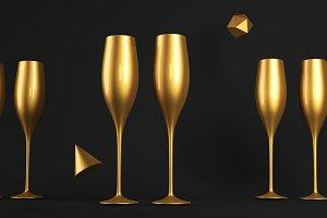 Champagne Golden Glass