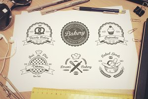 Vintage bakery emblems. Part 2
