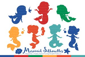 Crayon Box Boy Mermaid Clipart