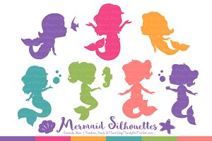 Crayon Box Girl Mermaid Clipart