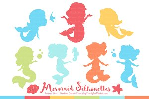 Mermaid Silhouettes in Fresh Boy