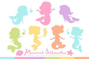 Mermaid Silhouettes in Fresh Girl