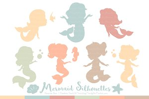 Grandmas Garden Boy Mermaid Clipart