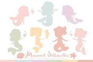Grandmas Garden Girl Mermaid Clipart