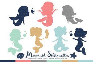 Mermaid Silhouettes in Modern Chic
