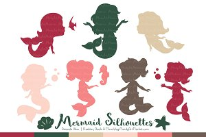 Mermaid Silhouettes in Rose Garden